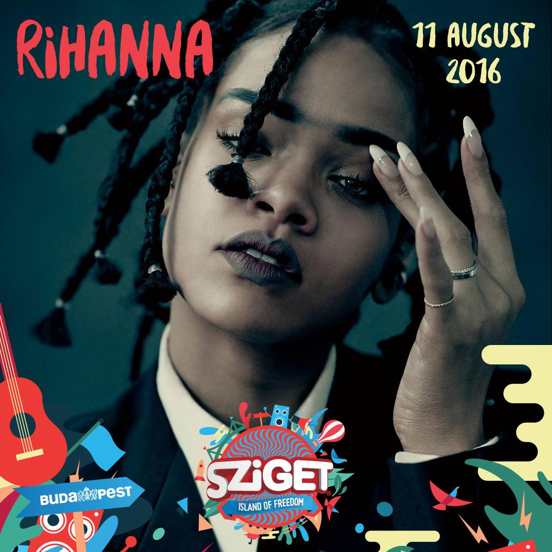Photo of Rihanna a Sziget nulladik napján