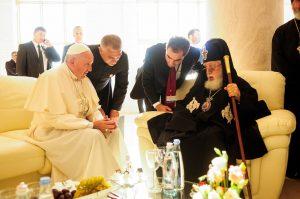 Ferenc pápa és II. Ilja grúz pátriárka