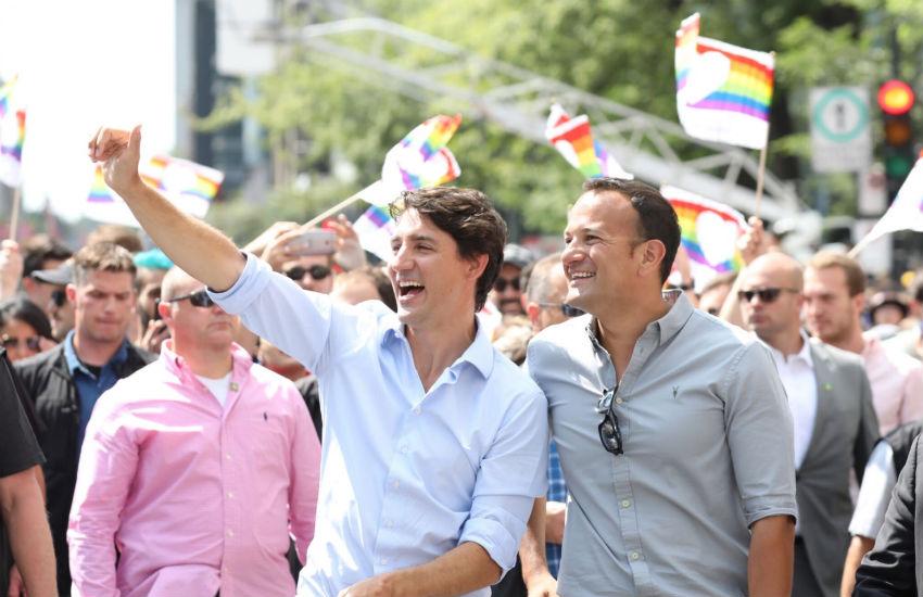 Photo of Pride-on menetelt együtt Kanada miniszterelnöke Írország meleg miniszterelnökével