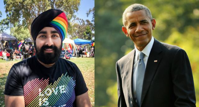 Photo of Barack Obama odavan a szivárványszínű turbánért