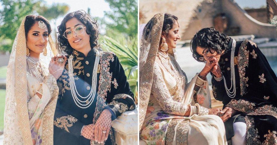 Photo of Csodálatos fotókon egy leszbikus pakisztáni-indiai pár esküvője