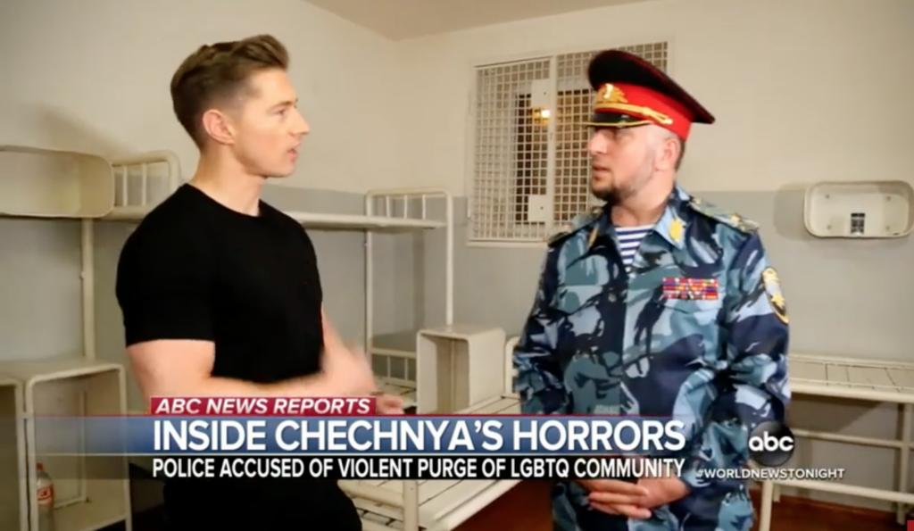 Photo of Csecsenföldi rendőrnek coming outolt egy riporter