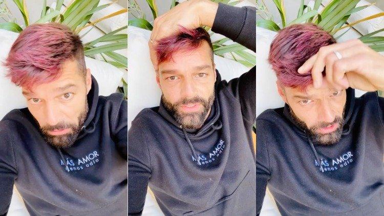 Photo of Ricky Martin a karanténban unatkozva színesre festette a haját
