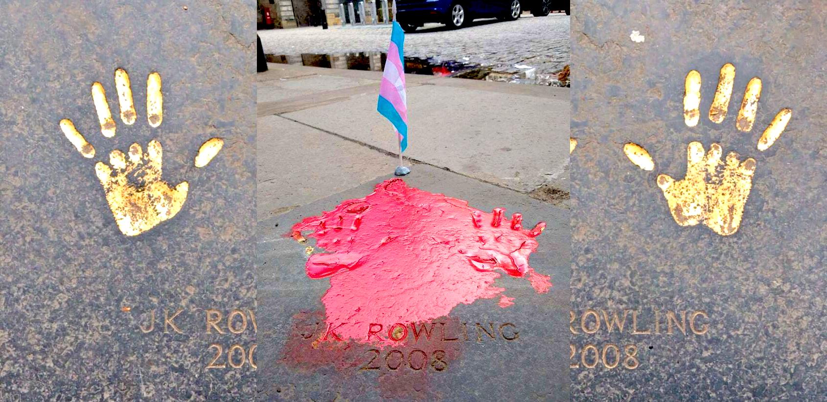 Photo of Vörös festékkel öntötték le J.K. Rowling kéznyomát