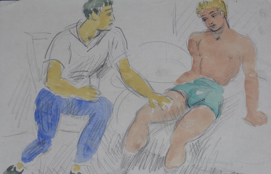 Photo of Brit festő 400 homoerotikus rajzára bukkantak egy ágy alatt